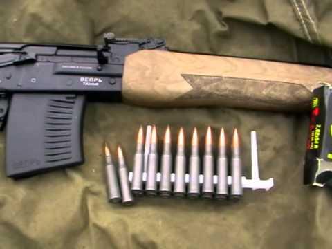 Карабин Вепрь ВПО-123-1 (7,62х54R). Обзор и стрельбы.