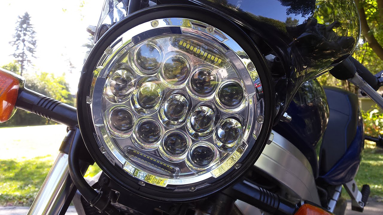 Retrofitting A 7 Inch Round Led Motorcycle Headlight Youtube 2007 Honda Shadow Aero Wiring Diagram