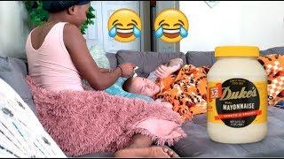 Sleeping Mayonnaise Prank! (FUNNY!!)