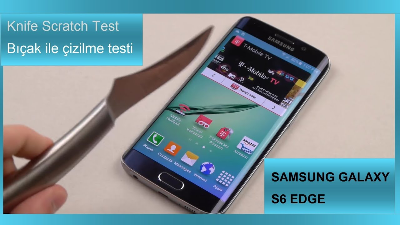 Samsung Galaxy S6 Edge Knife Scratch Test - YouTube