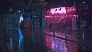 [4K] Seoul Hongdae 2AM, walking in the rain. Walking Tour Seoul Korea. Ambience Cyberpunk 새벽2시 홍대걷다