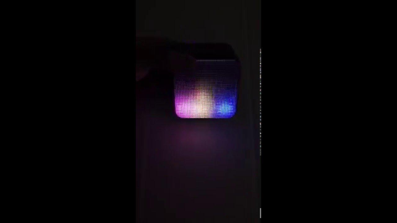 Sharper Image Mini Speaker Led Lights Sbt5003 Youtube