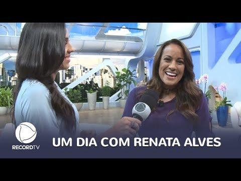conheça a rotina da apresentadora renata alves youtube