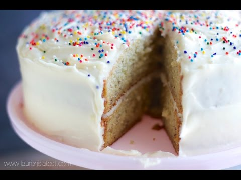 Perfect Banana Cake with Cream Cheese Frosting - YouTube