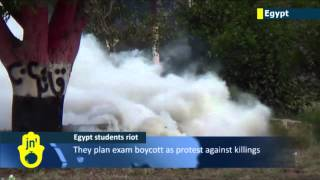 Al-Azhar University Violence: Muslim Brotherhood students clash in Cairo with Egyptian police