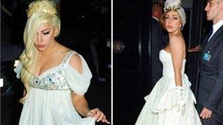Lady Gaga Wears Two Wedding Dresses in London!