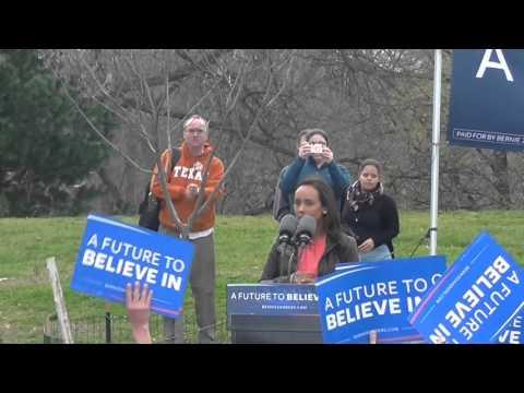 BERNIE SANDERS  Rally at Saint Marys Park South Bronx New York