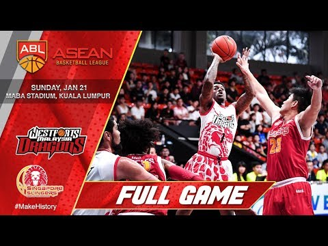 Westports Malaysia Dragons vs Singapore Slingers | LIVE NOW | 2017-2018 ASEAN Basketball League