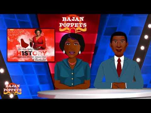 Bajan Poppet Team Congratulations to Barbados Prime Minister Mia Amor Mottley