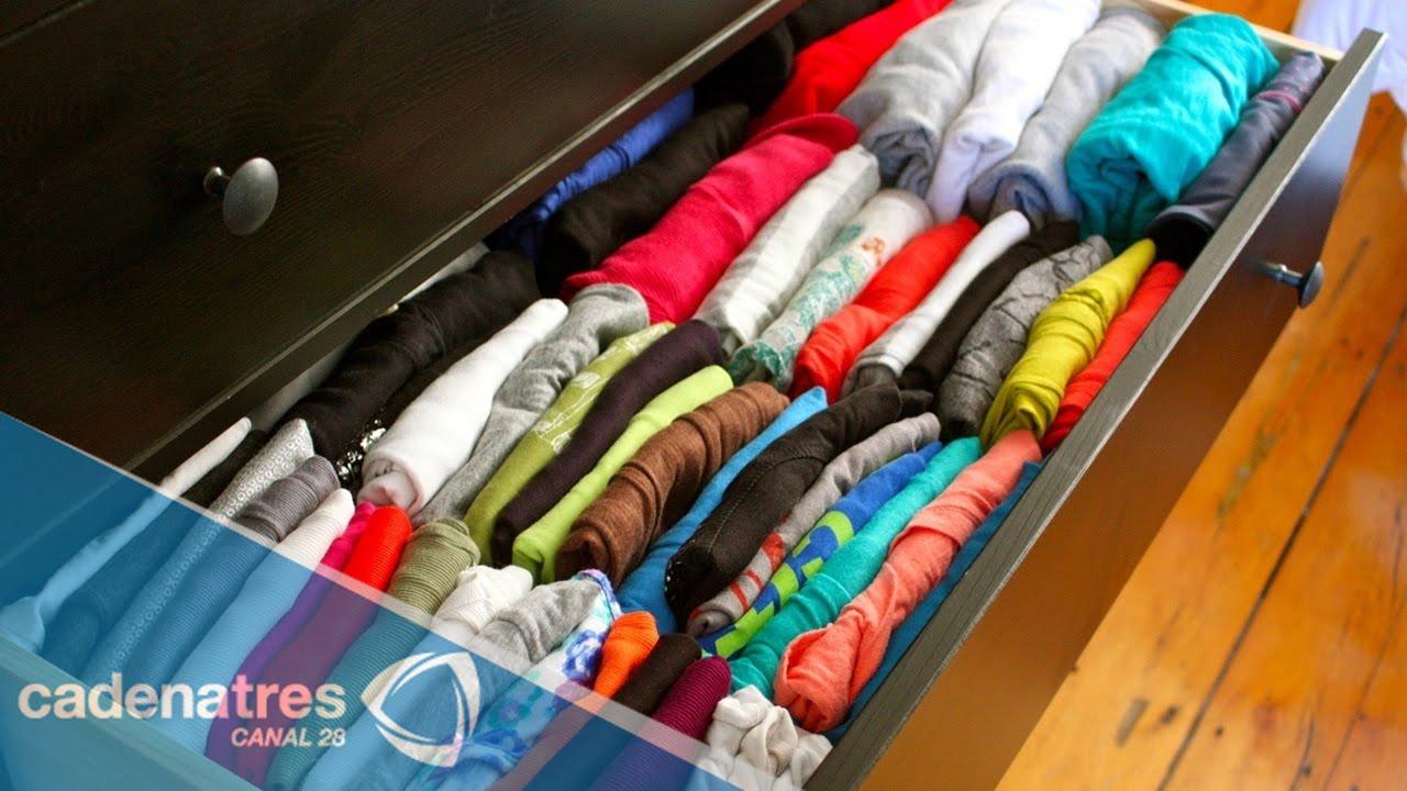 Dobla tu ropa y ahorra espacio youtube for Ropa interior americana