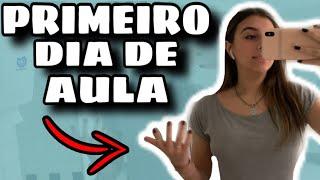 VLOG DO MEU PRIMEIRO DIA DE AULA + ROTINA MATINAL + MAKE SIMPLES