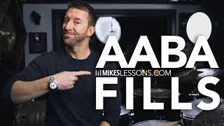 DRUM LESSON - AABA Fills