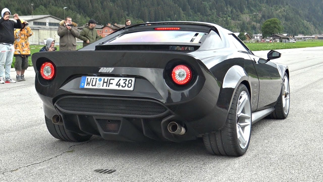 New Lancia Stratos 2018 Exhaust Sounds Start Up Full Throttle Acceleration