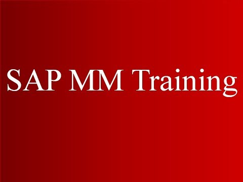 SAP MM Training - Overview of Procurement Processes (Video 2) | SAP MM Material Management