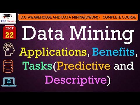 Data Mining Applications, Benefits, Tasks(Predictive And Descriptive) - DWDM Lectures