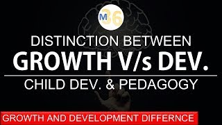Growth and Development Differences | Detailed with Example KVS | DSSSB | CTET