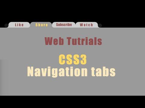 How To Make Menu Navigation Tabs In HTML & CSS ( Web Tutorials - уроки по веб )