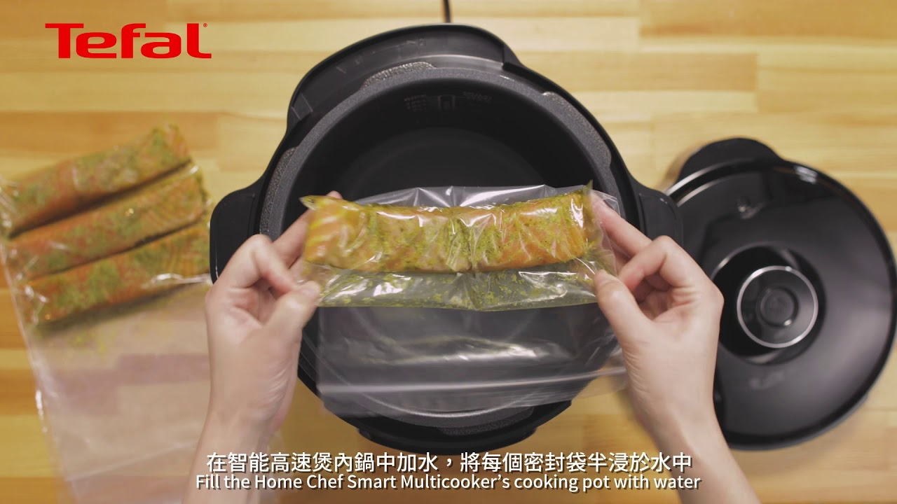 Sous Vide Pesto Salmon By Tefal Cy601d Home Chef Smart Multicooker Youtube