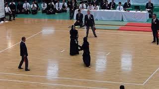 2018 全日本学生剣道選手権 準決勝 國士舘 矢野 vs 筑波大 星子