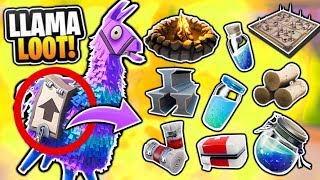 WHAT'S INSIDE THE LLAMA LOOT SUPPLY DROP In Fortnite: Battle Royale? (Rarest Chest In The Game)