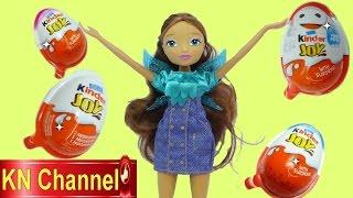 Winx Club Búp bê Aisha (Layla) bóc trứng đồ chơi trẻ em bất ngờ Kinder joy Surprise egg Kids toy