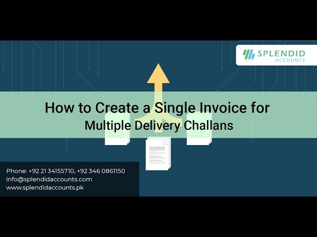 How to Create a Single Invoice for Multiple Delivery Challans in Splendid Accounts