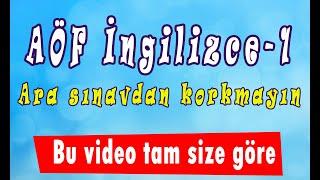 AÖF İngilizce-1 hızlı konu anlatım videosu [Ünite 1-2]  www.akademiaof.com