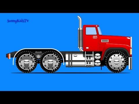 Trucks for kids. Truck Assembly. Cartoon. Video for children.
