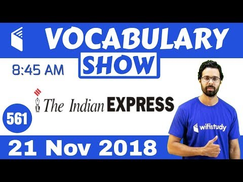 8:45 AM - The Times of India Vocabulary with Tricks (21 Nov, 2018) | Day #561