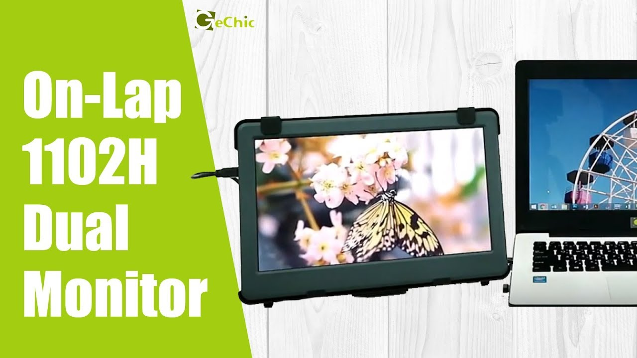 GeChic Set Up a External Second Monitor for a Laptop- On-Lap 1102H