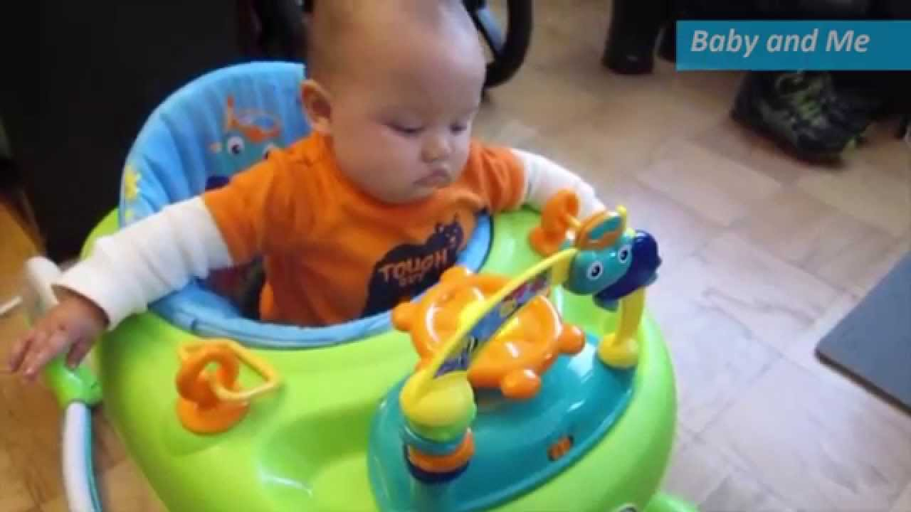 384ebd522a2e First Time in His Baby Einstein Walker - YouTube