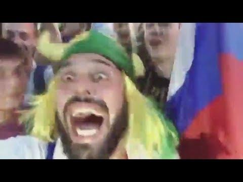 Безумный бразилец и Россия на ЧМ 2018!!! Россия ахуенно братан!