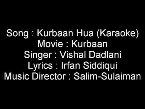 Kurbaan Hua Karaoke