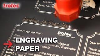 Laser Paper Cutting | Laser Paper Engraving | Trotec