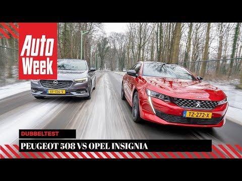 Peugeot 508 vs. Opel Insignia - AutoWeek Dubbeltest - English subtitles