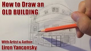 How to Draw an Old building - Drawing Tutorial