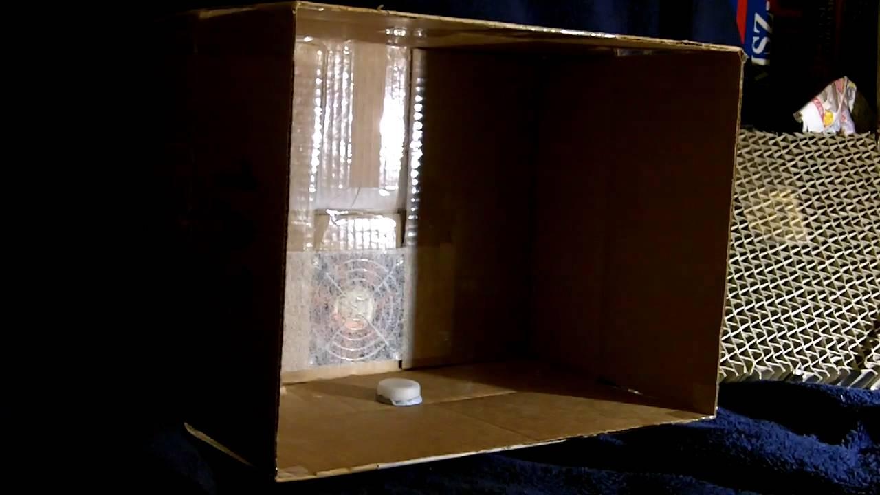 custom homemade spray booth test for airbrushing small model kits