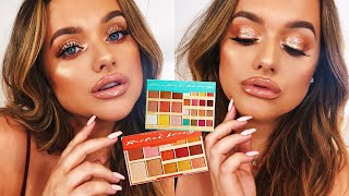 SUPER EASY/SOFT GLITTER GLAM PROM/WEDDING MAKE UP! USING MY PALETTES!!!   Rachel Leary