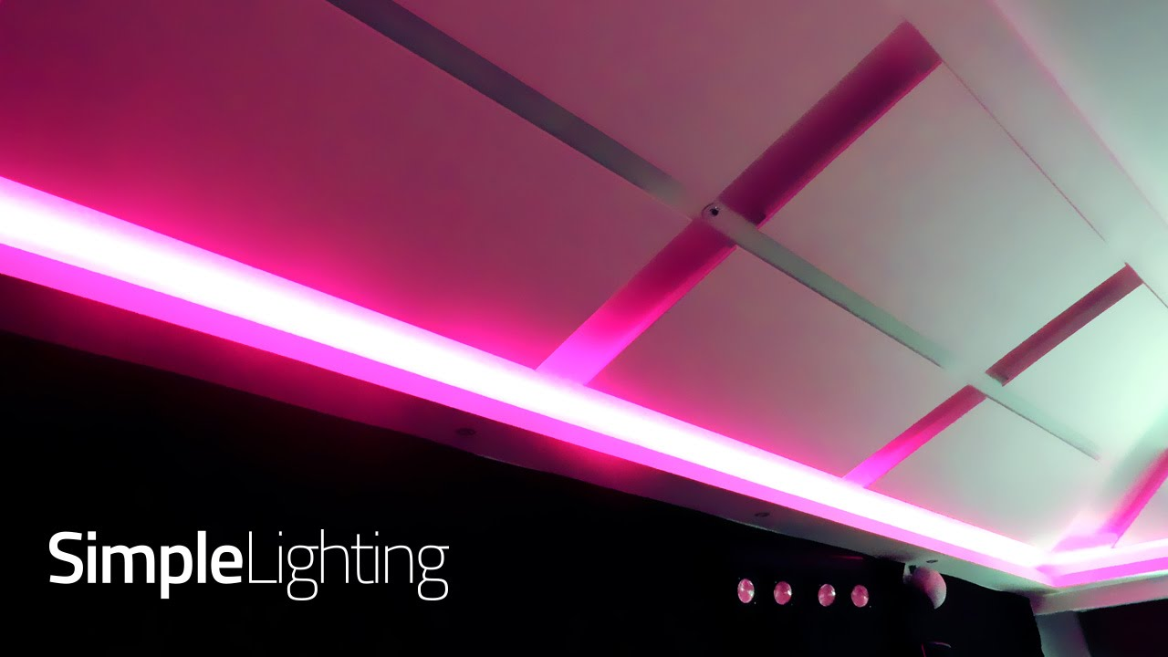 Rgb Colour Changing Led Strip Lighting For A Function Room