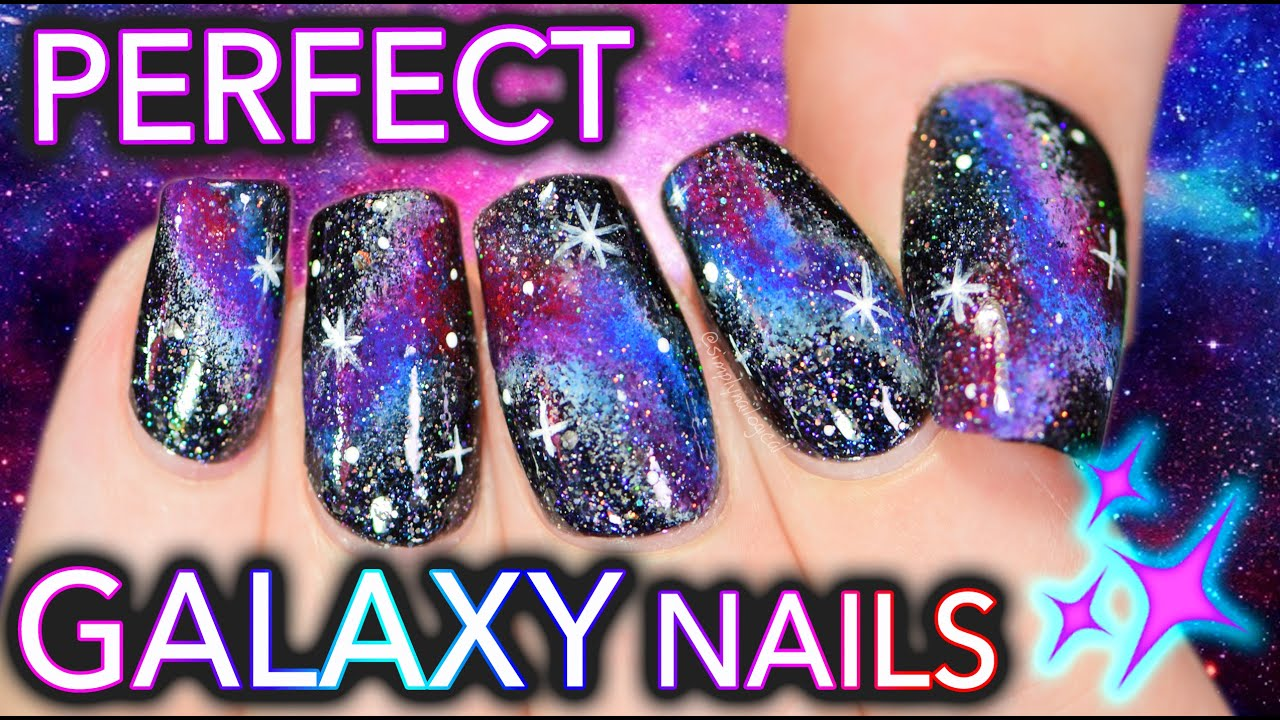 The Fault in Your Galaxy Nails | Get PERFECT DIY Galaxy Nails! - YouTube