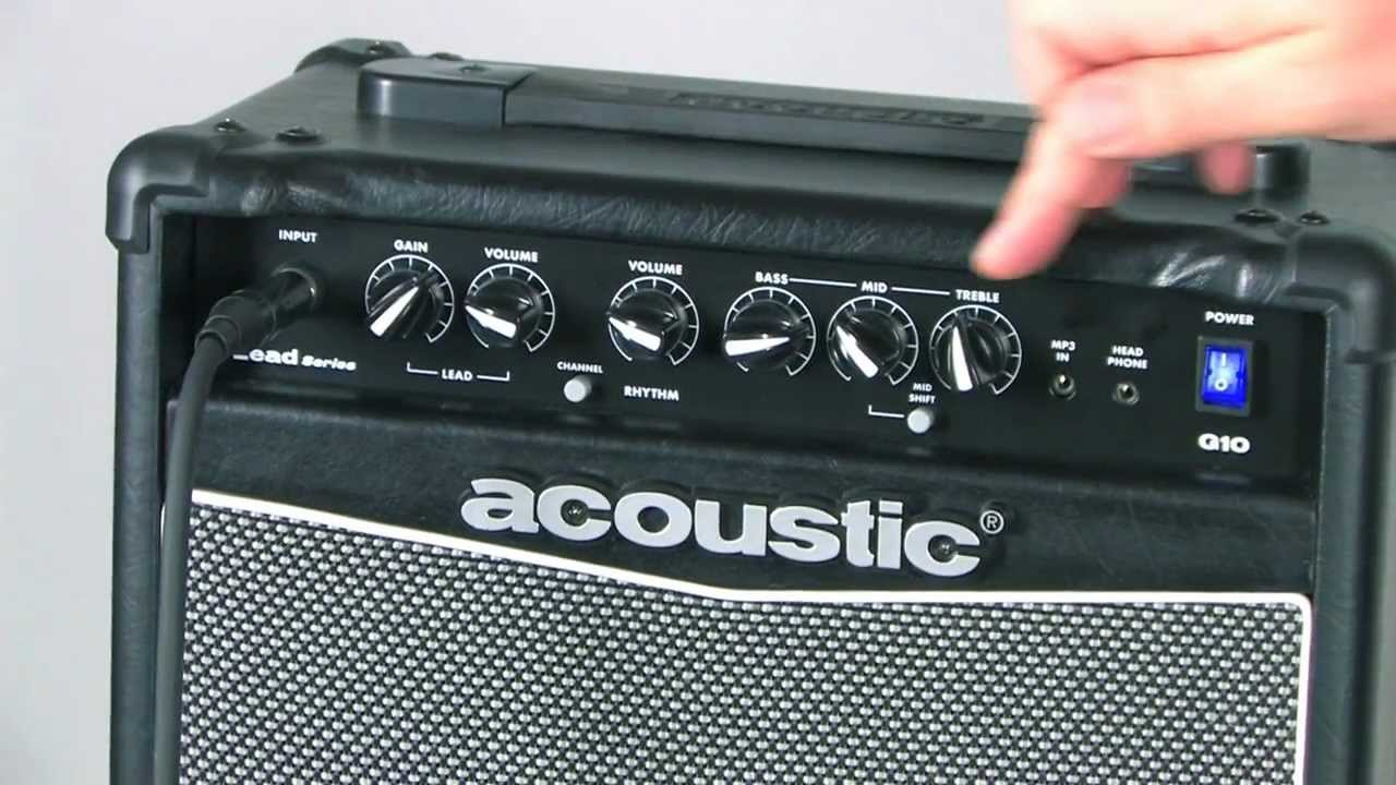 Amp Settings Make Electric Guitar Sound Acoustic Not Lossing