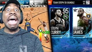 95 OVR PLATINUM CAPTAINS LEBRON & CURRY IN ALL-STAR PACK OPENING! NBA Live Mobile 18 Ep. 34
