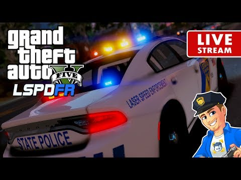 GTA 5 LSPDFR PATROL LIVE - New Jersey State Troopers | LSPDFR Police Patrol Real Life Mod for GTA 5