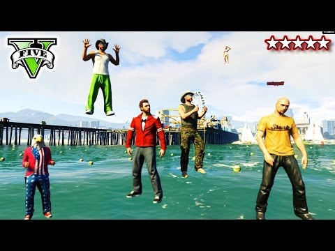 GTA 5 Walking On Water Glitch! | GTA Fun On The Water | GTA V Walking On Air