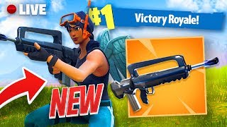 NEW LEGENDARY BURST ASSAULT RIFLE GAMEPLAY TO FORTNITE!! FORTNITE BATTLE ROYALE WITH TEAM ALBOE!!