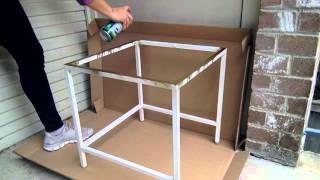 Ikea gold coffee table hack