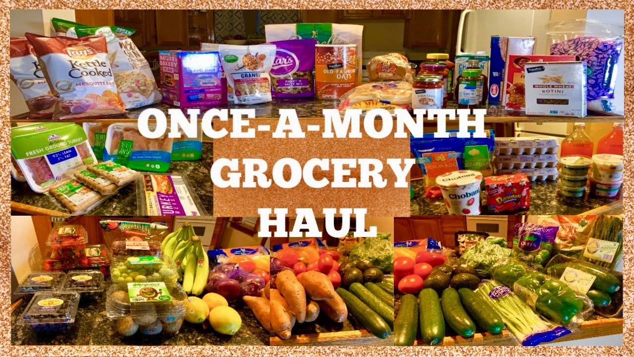 ONLY $210! | HUGE ONCE-A-MONTH Grocery HAUL| Healthy + AFFORDABLE| Family  of 4| ALDI + JEWEL OSCO