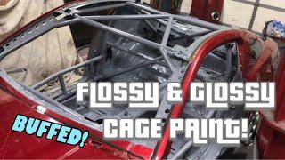 MUSTANG DRIFT BUILD: Baller Roll Cage Paint!
