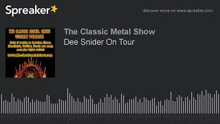 Dee Snider On Tour