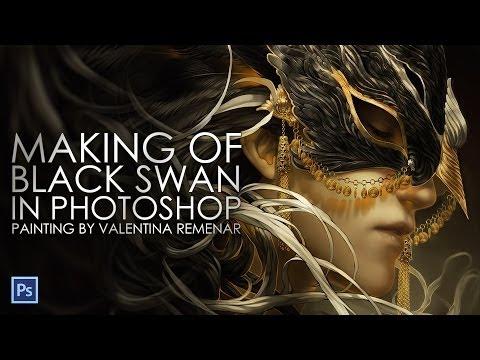 Black Swan...Digital painting progress (speed drawing)